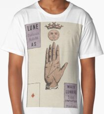 French Tarot Card Moon Long T-Shirt