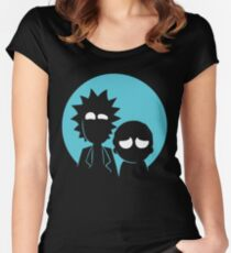 Rick and Morty in Blue Women's Fitted Scoop T-Shirt