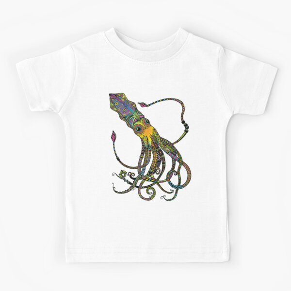 Electric Squid Kids T-Shirt