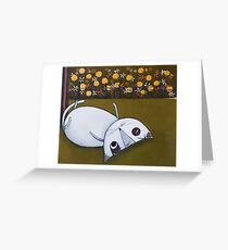 Cat with flowers Greeting Card