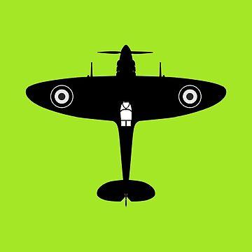 Spitfire classic aircraft  by Boxzero