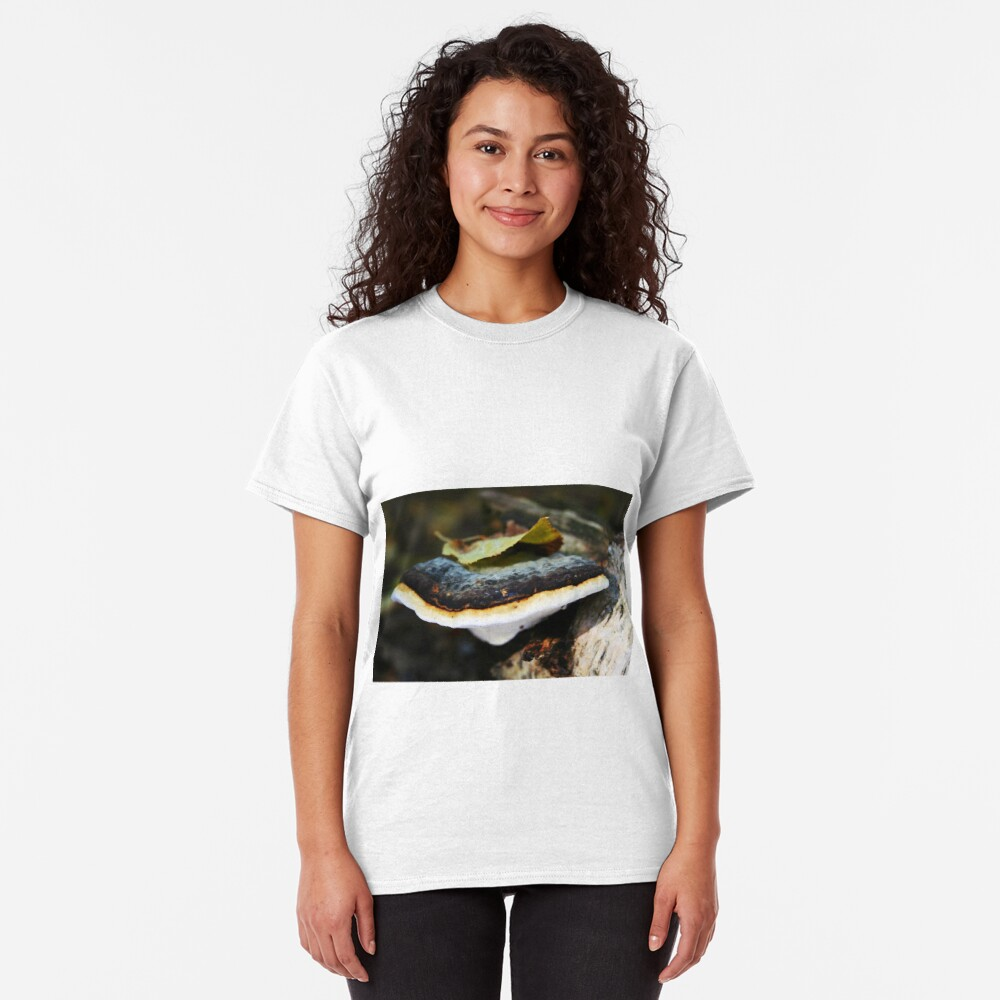 Polypore with a leafy hat Classic T-Shirt