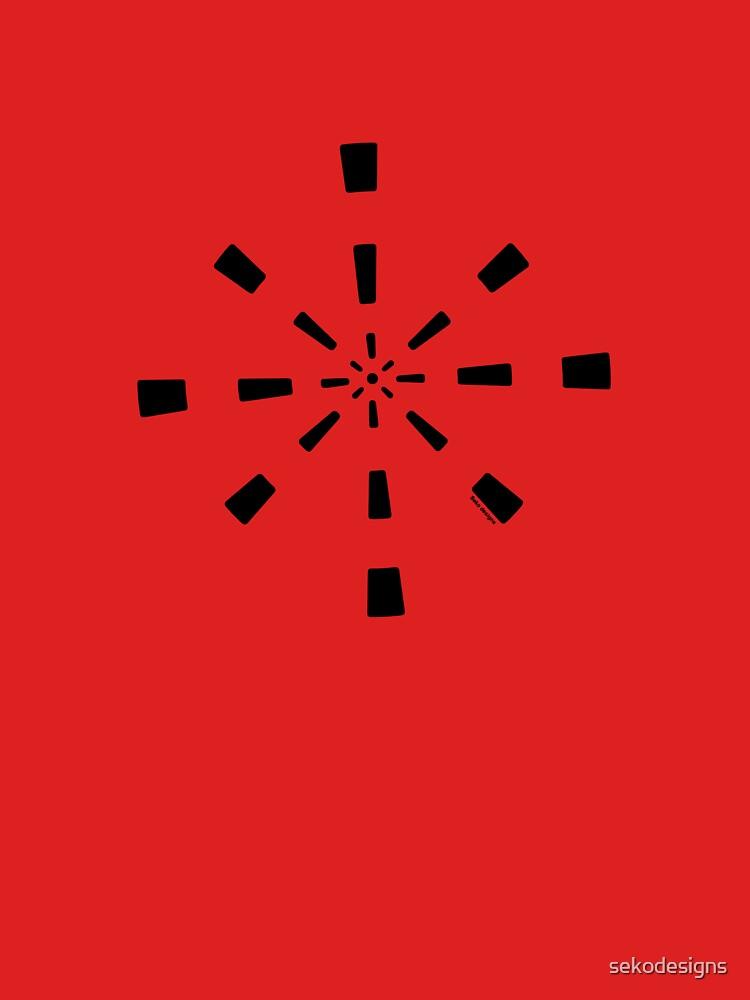 Mandala 41 Back In Black by sekodesigns
