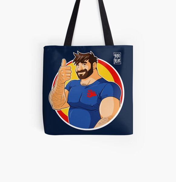 ADAM LIKES TO BEAR UP All Over Print Tote Bag