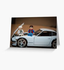 Doc and Marty on a Z Greeting Card