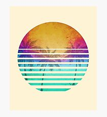 Vintage Retro Beach sunset Photographic Print