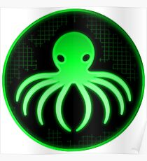 Techno Octopus — Green Poster