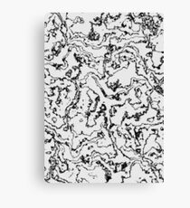 Marbled Monochrome Canvas Print