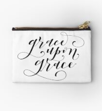 Grace Upon Grace (Black and White) Studio Pouch