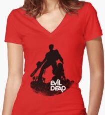 Bloody Ash Women's Fitted V-Neck T-Shirt