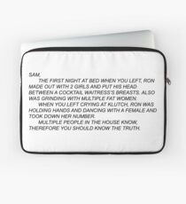 Anonymous Letter to Sammi Laptop Sleeve