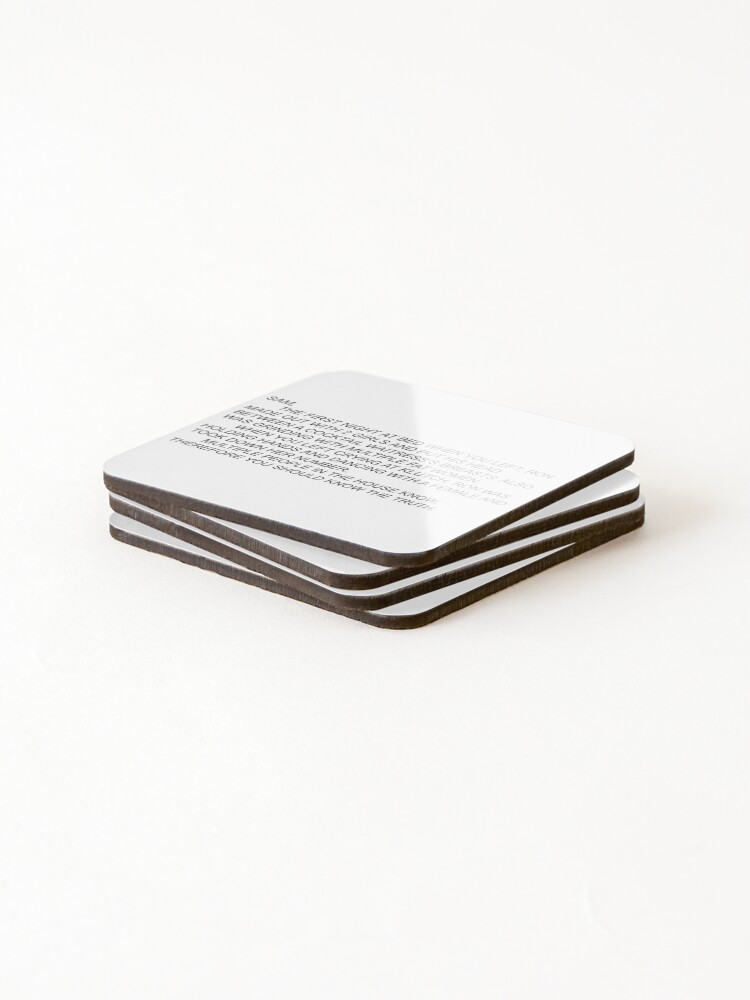 Alternate view of Anonymous Letter to Sammi Coasters (Set of 4)