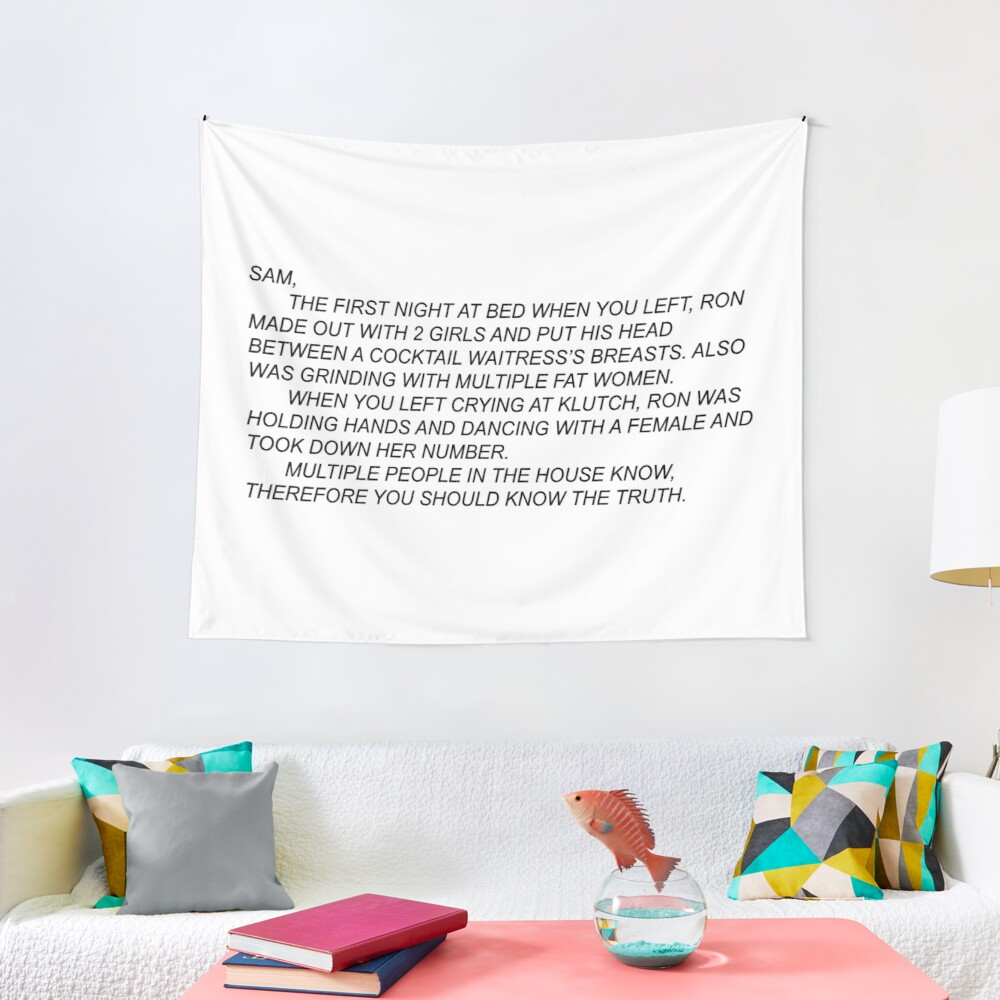 Anonymous Letter to Sammi Tapestry