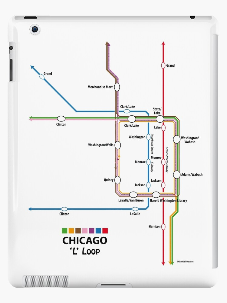 'CHICAGO Loop Map' iPad Case/Skin by UrbanRail on lincoln park, grant park, downtown chicago map, trump international hotel and tower, south chicago, chicago transit maps, east side, millennium park, chicago map glenview, navy pier, edgewater chicago map, willis tower, cook county map, chicago transit authority, lincoln park map, chicago subway map, hyde park map, chicago streeterville map, grant park map, chicago tourist map, chicago museum map, logan square, chicago street map, magnificent mile, university of chicago, chicago union station map, chicago on the map, hyde park, michigan avenue map, magnificent mile map, wabash and wacker chicago map, blue line stops chicago map,