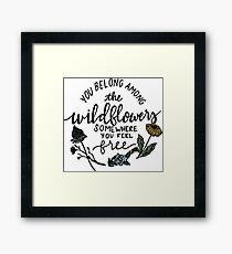 Among the Wildflowers Framed Print