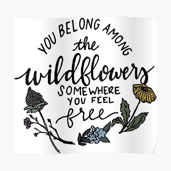 Among the Wildflowers Poster
