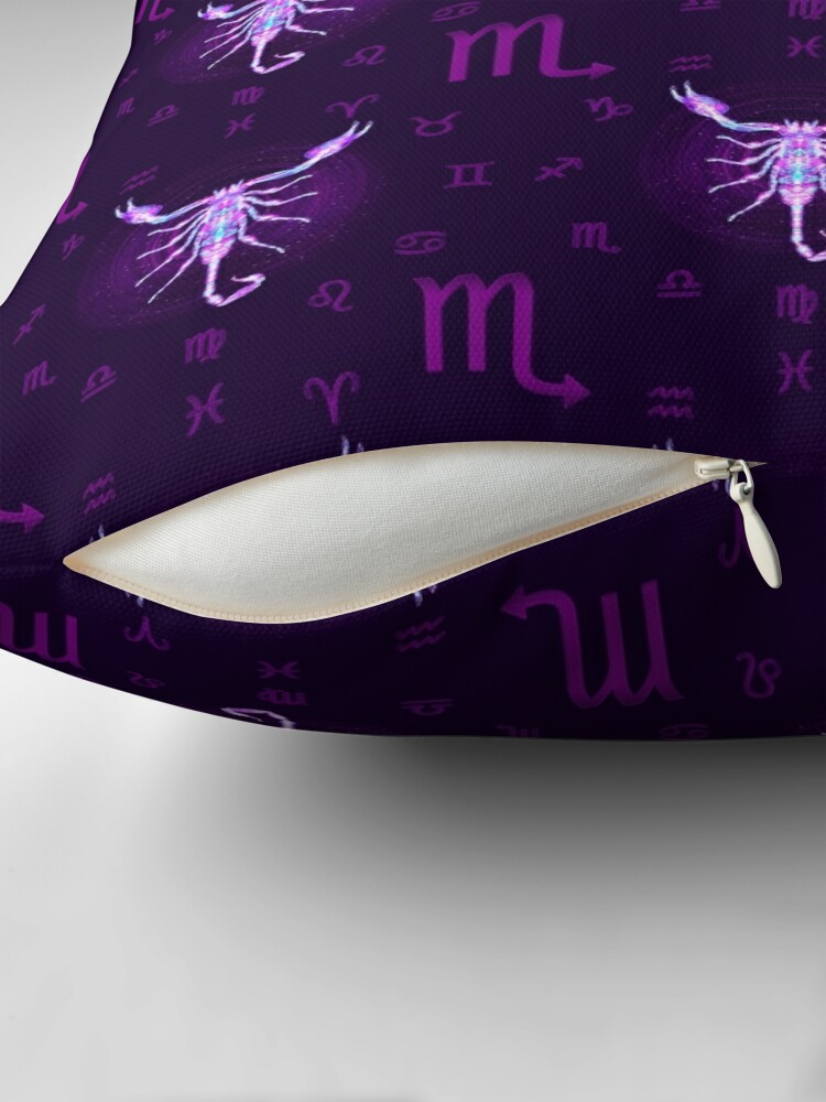 Alternate view of Scorpio Zodiac Lightburst - Tiled Throw Pillow