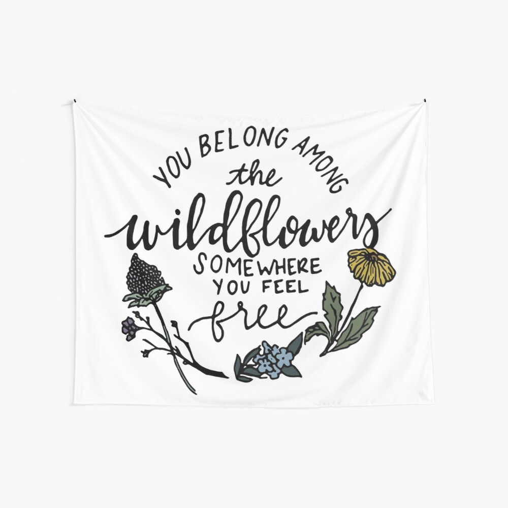 Among the Wildflowers Wall Tapestry