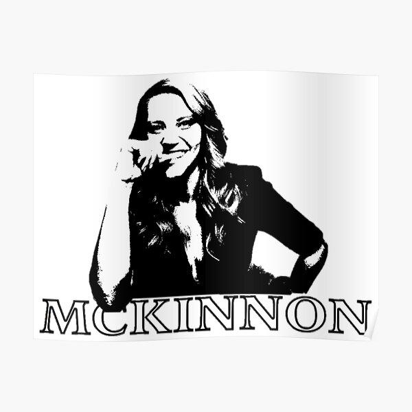 Kate McKinnon Black and White Poster