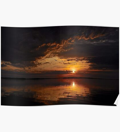 A Mysterious sunset Poster