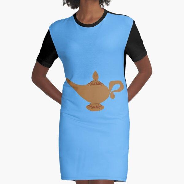 Aladdin Genie Lampe (blau) T-Shirt Kleid
