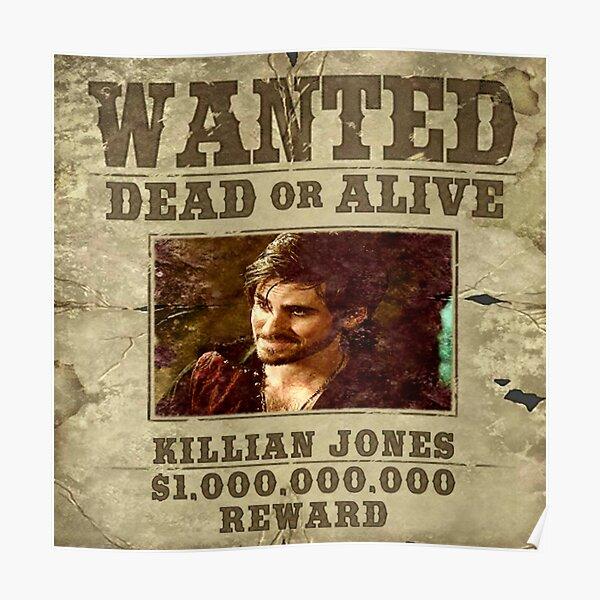 Killian Jones Wanted Poster Poster