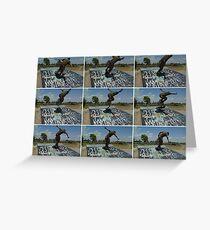 Skater Action Print Greeting Card