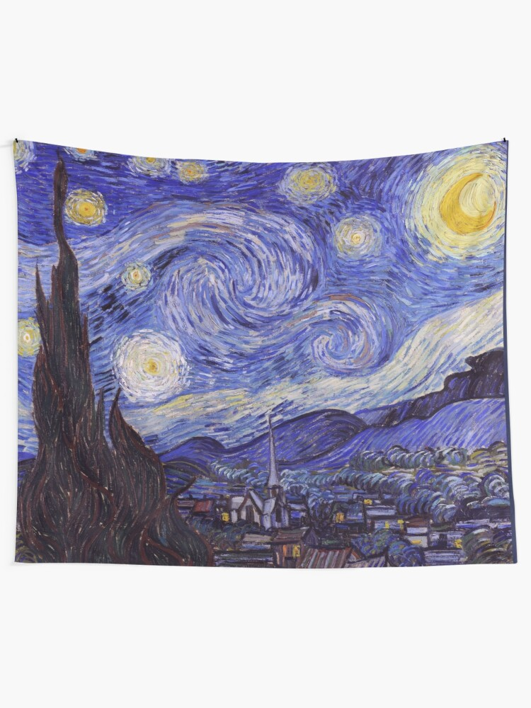 Alternate view of Vincent Van Gogh Starry Night Tapestry