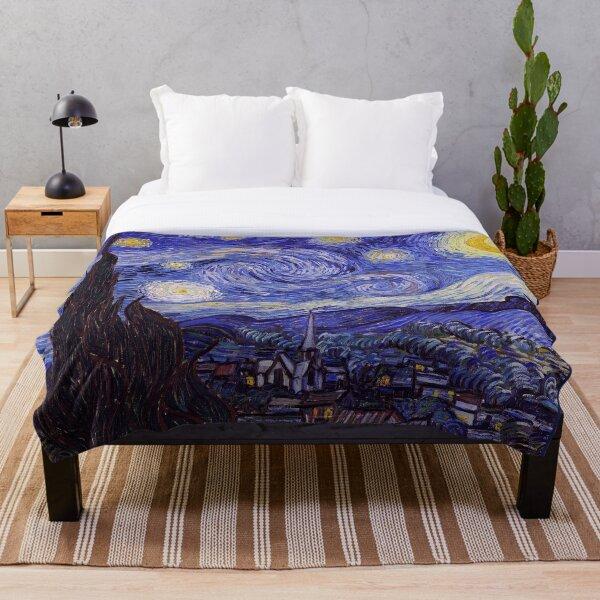 Vincent Van Gogh Starry Night Throw Blanket