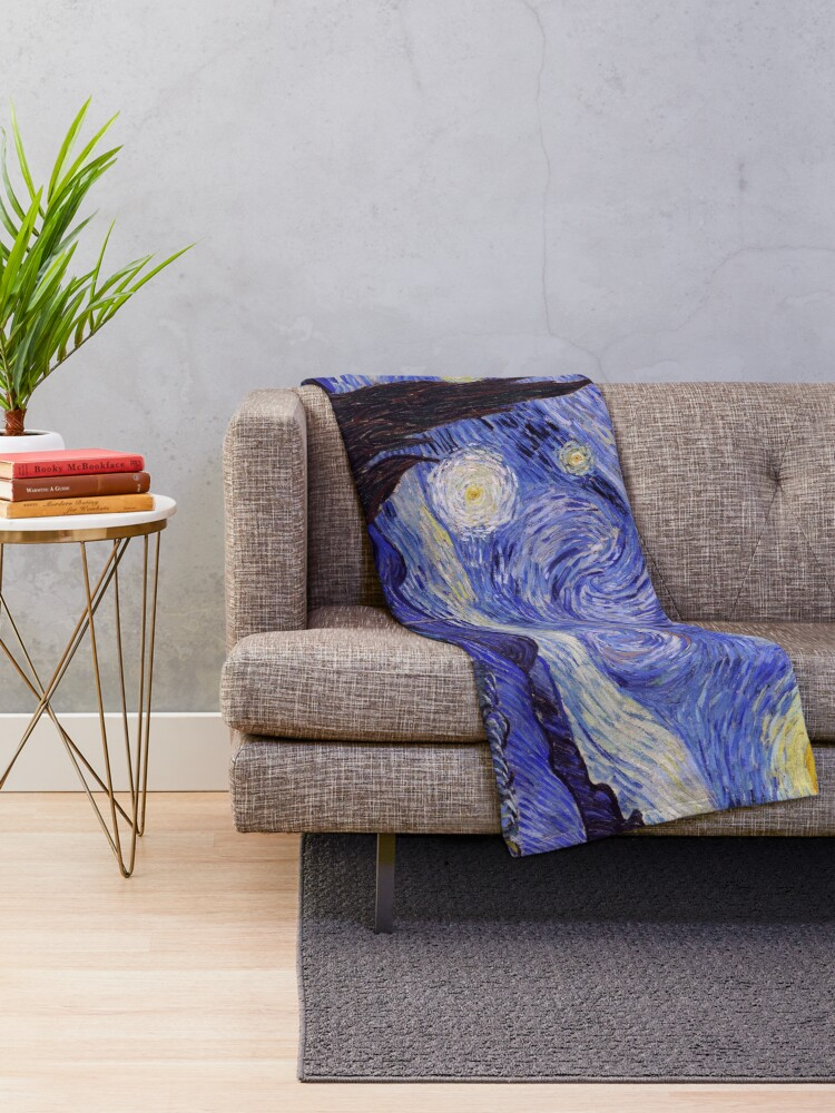 Alternate view of Vincent Van Gogh Starry Night Throw Blanket
