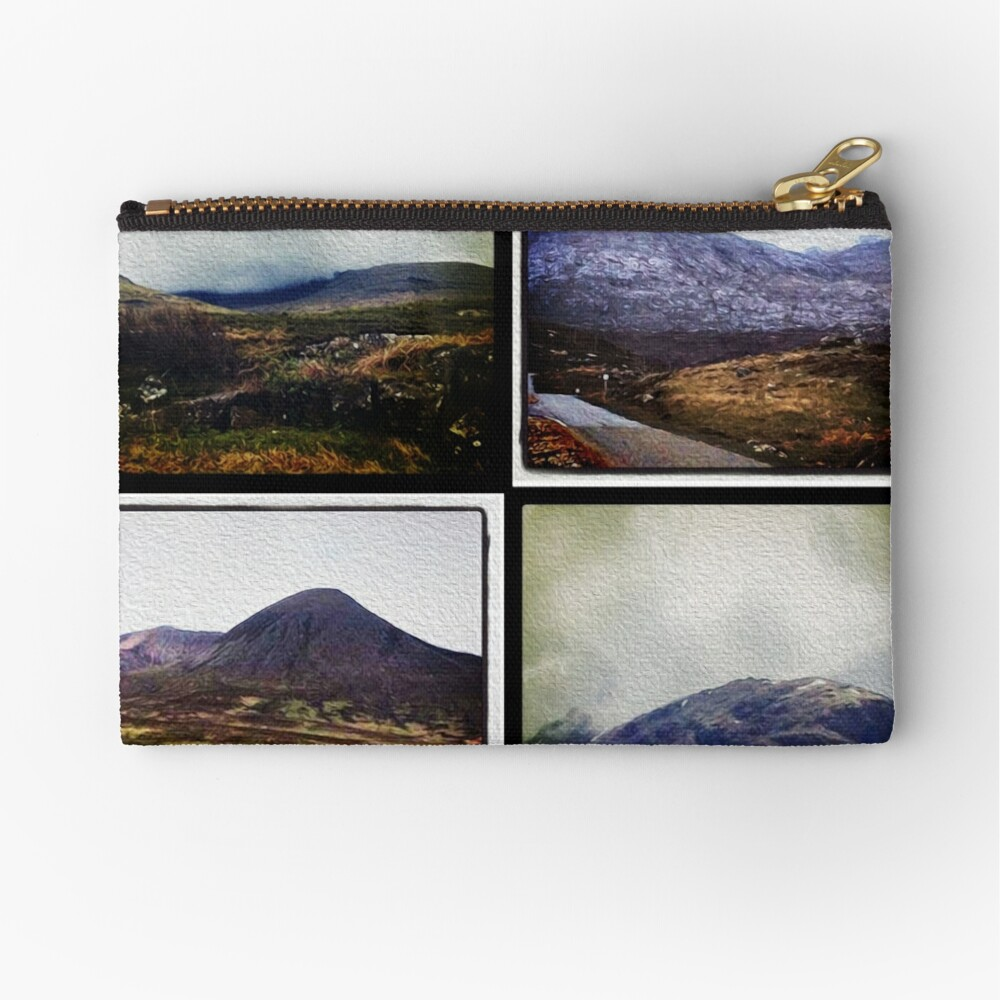 Four scenes from the Highlands Zipper Pouch
