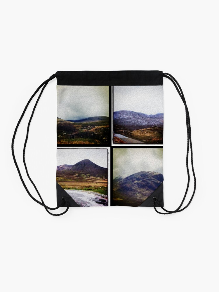 Alternate view of Four scenes from the Highlands Drawstring Bag