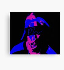 Tupac Neon Color by KobeKing Canvas Print