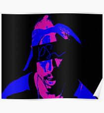 Tupac Neon Color by KobeKing Poster