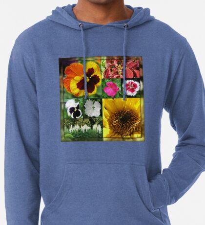 Spätsommer-Blumen-Collage Leichter Hoodie