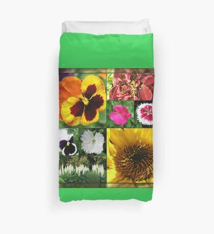 Spätsommer-Blumen-Collage Bettbezug