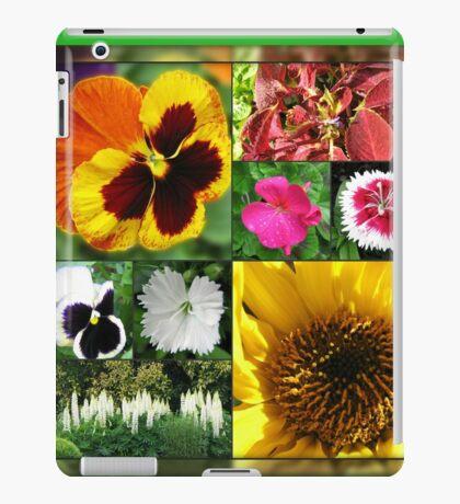 Spätsommer-Blumen-Collage iPad-Hülle & Klebefolie