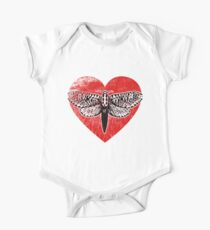 Cute Moth, Love Moths and Butterfly One Piece - Short Sleeve