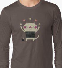 Cute Cat Juggling Long Sleeve T-Shirt