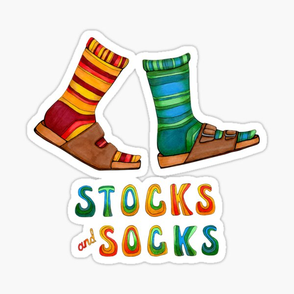 Stocks And Socks with Groovy Lettering Sticker