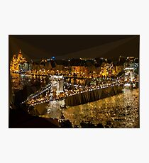 Budapest Night Low Poly Geometric Photographic Print