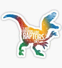 Raptor Silhouette, Velociraptor and Prehistory Sticker