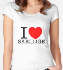 I LOVE SKELLIGE Women's Fitted Scoop T-Shirt