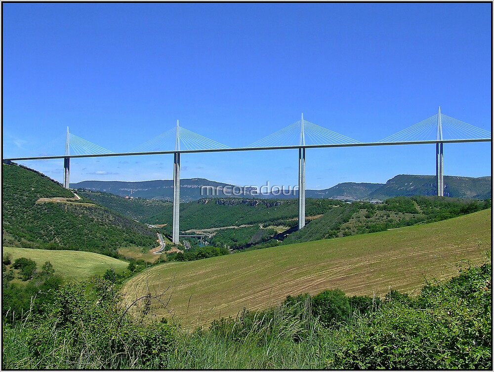 The Millau Viaduct, Mid France by Malcolm Chant
