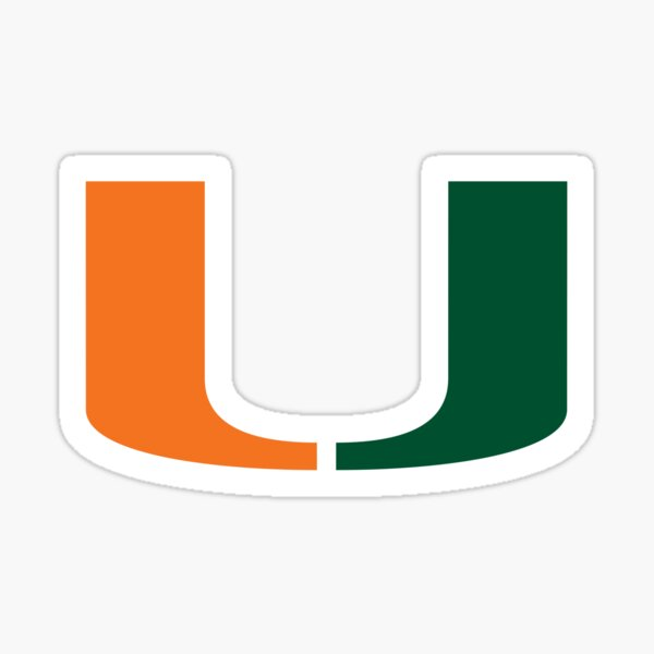 University of Miami  Sticker