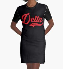 Delta 1913 Jersey Graphic T-Shirt Dress