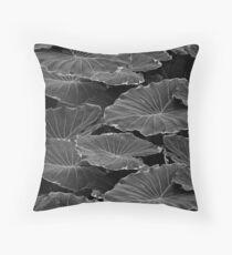 Dark Leaves Floor Pillow