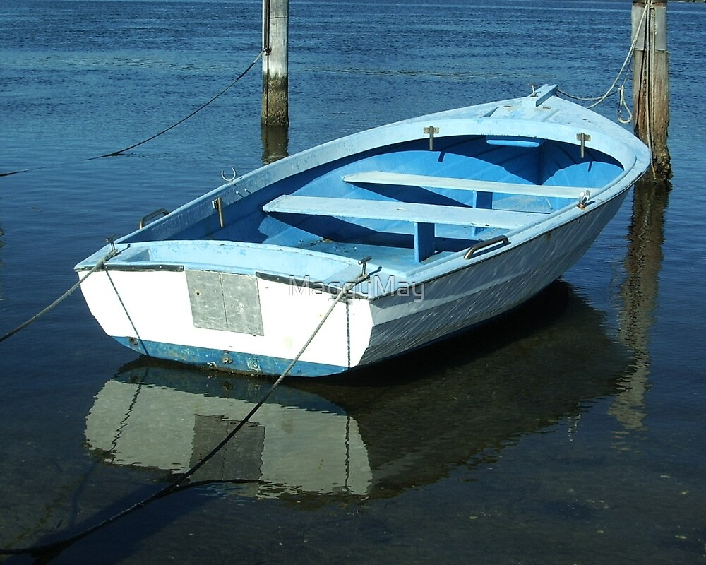 Blue Boat by MaggyMay