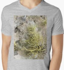 Lichen on tomb in Shalwy Valley, Kilcar, Donegal Men's V-Neck T-Shirt