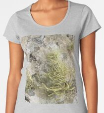 Lichen on tomb in Shalwy Valley, Kilcar, Donegal Women's Premium T-Shirt